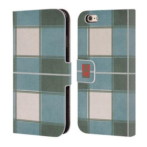 Etui portfel na telefon - Plaid Pattern Green Blue