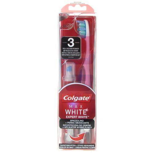 Szczoteczka do zębów średnia Colgate 360° Max White Expert White + Aplikator wybielający (8718951067097)