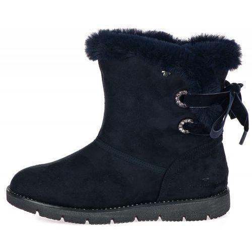 Tom tailor buty zimowe damskie 36 ciemny niebieski