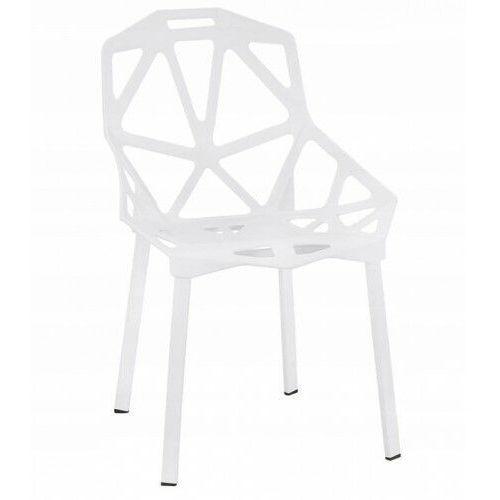 Krzesło metalowe kazadi białe marki Krzeslaihokery