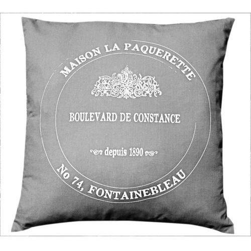 La petite maison - poduszka bawełniana boulevard - szara