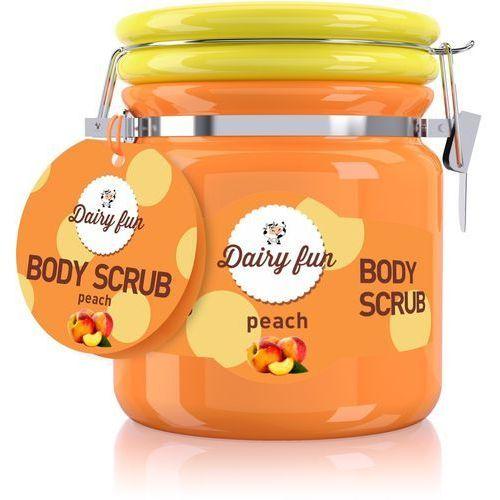 Delia Dairy fun peeling do ciała brzoskwinia 300g - . darmowa dostawa do kiosku ruchu od 24,99zł (5901350448755)