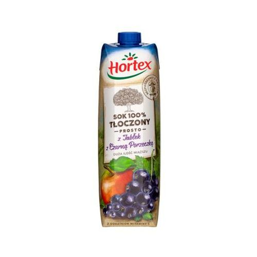 Hortex  1l sok 100% tłoczony prosto z jabłek z czarną porzeczką