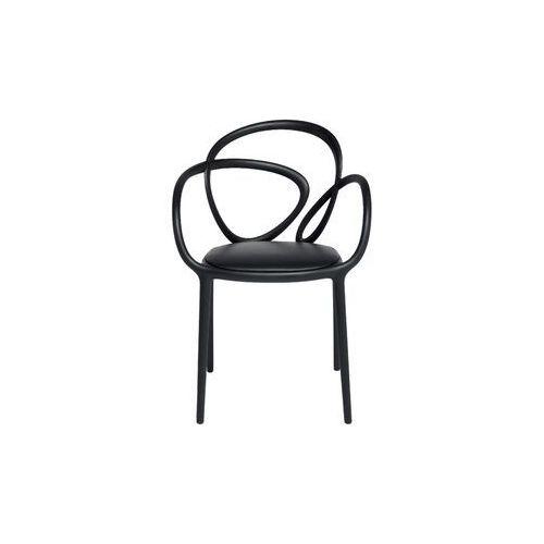 krzesło loop z poduszką czarne - 2 szt. 30002bl marki Qeeboo