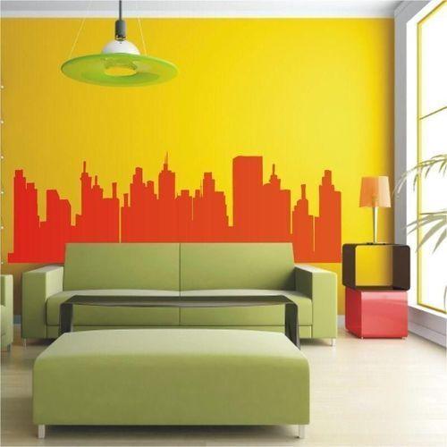 Wally - piękno dekoracji Szablon malarski panorama 0930