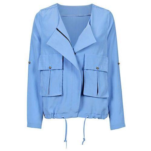 Krótka kurtka  niebieski marki Bonprix