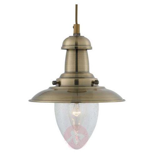 Lampa wisząca Fisherman w stylu marynistycznym, kolor patyna,