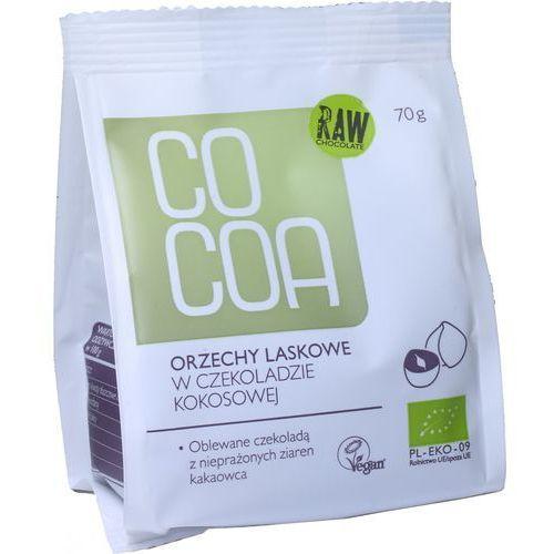 Cocoa (czekolady i bakalie w surowej czekoladzie) Orzechy laskowe w czekoladzie kokosowej bio 70 g - cocoa (5902565210205)