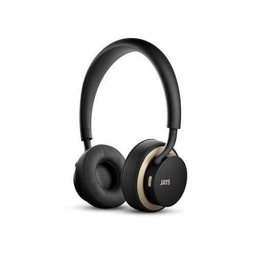 JAYS u-JAYS Wireless BLACK/GOLD - klasyczne słuchawki z bezprzewodową wolnością | Zapłać po 30 dniach | Gwarancja 2-lata, u-JAYS Wireless BLACK GOLD