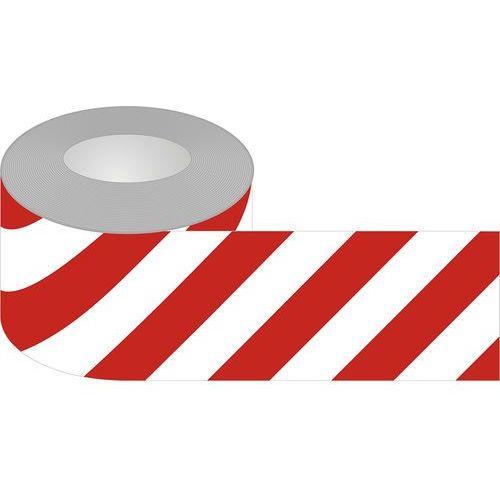 Taśma samoprzylepna biało-czerwona podłogowa