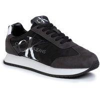 Sneakersy CALVIN KLEIN JEANS - Jester B4S0655 Black/Gray Pinstripe, w 3 rozmiarach