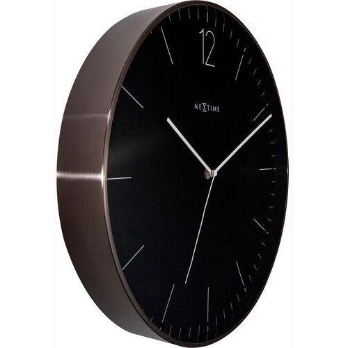 Zegar ścienny 40 cm. essential graphite xxl nextime czarno-szary (3258 gs)