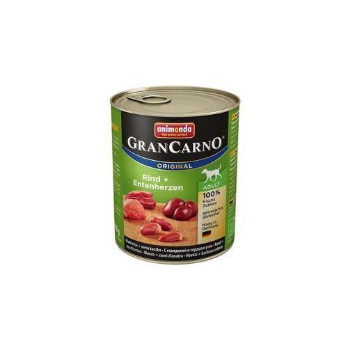 Animonda GranCarno Original Adult wołowina i kacze serca 400g, PANI115_PAK12
