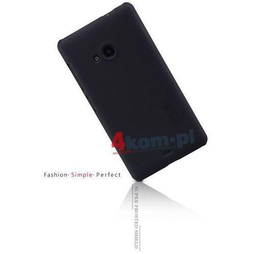 Etui Nillkin Frosted Shield Nokia Lumia 535 Czarne - Czarny