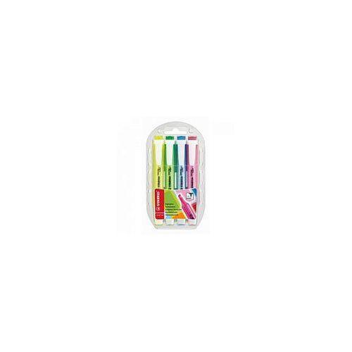Zakreślacze Stabilo Swing Cool 4 kolory w etui 275/4
