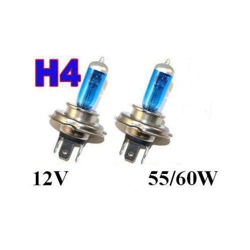Żarówki (2szt.) Samochodowe H4 (12V) White Xenon H.I.D. (moc 60/55W) - Homologowane.