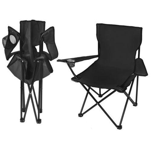 Krzesło wędkarskie turystyczne składane fotel czarne marki Iso