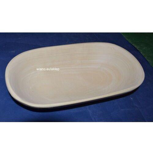 Naczynie drewniane - miska dł. 21-22 cm, szer. 17-19 cm