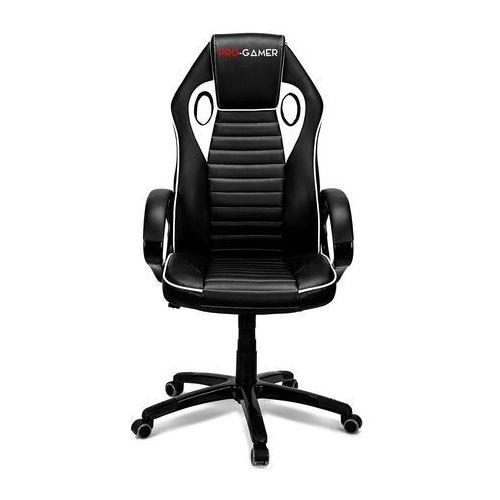 Fotel gamingowy flame biały dla graczy marki Pro-gamer
