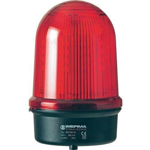 Sygnalizator świetlny LED Werma Signaltechnik 280.150.60, Flesz, IP65, czerwony (4049787021507)