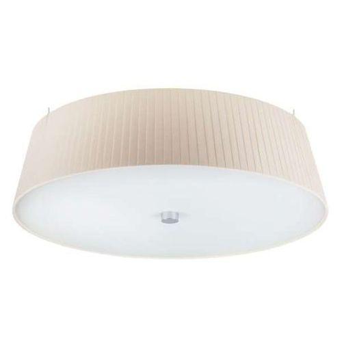Lampa sufitowa kami elementary l 1/c/ecru plisowana oprawa okrągły plafon abażurowy ecru marki Sotto luce