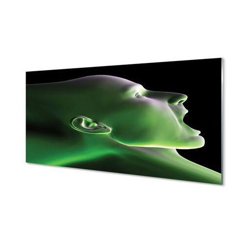 Obrazy akrylowe Głowa człowieka zielone światło