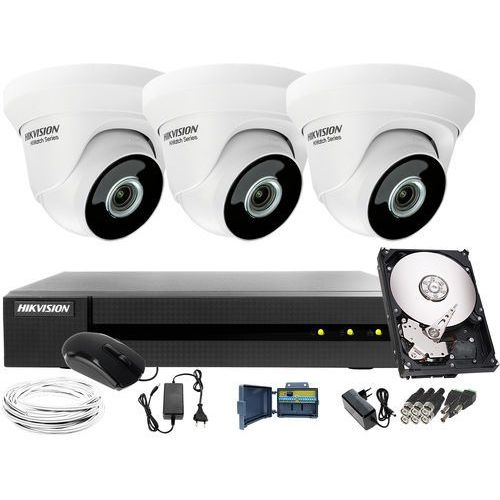 3 x hwt-t223-m monitoring tani zestaw do firmy, biura hwd-6104mh-g2, 1tb, akcesoria marki Hikvision hiwatch