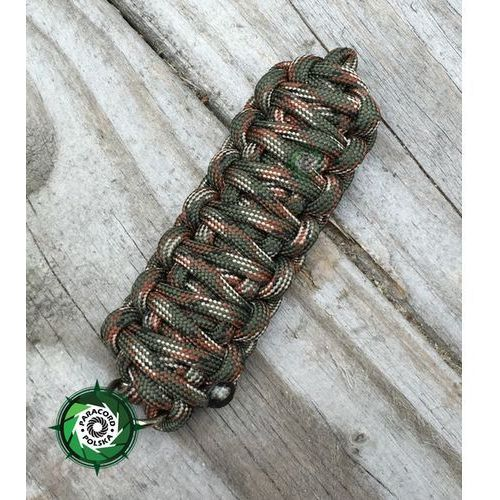 "Paracord polska Brelok survivalowy z paracordu 550 o splocie ""king cobra"", kolor ""army green camo"""