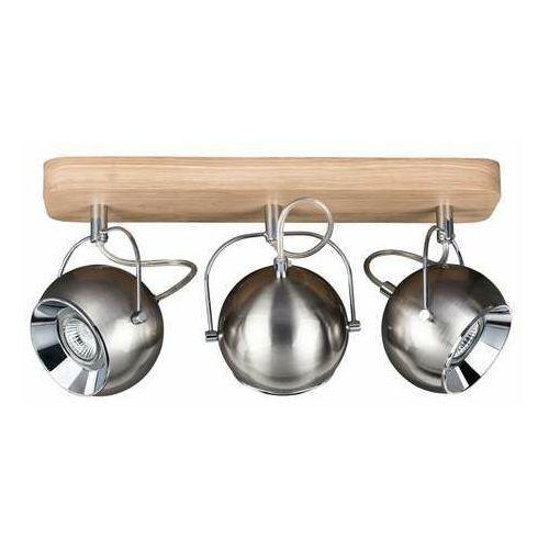 Spot light ball wood 5131374 kinkiet lampa ścienna 3x6w gu10 drewno/szary (5901602315361)
