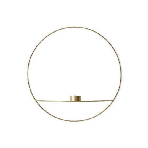 Świecznik POV Circle ścienny na tealight, L, mosiądz - Menu, 4814839