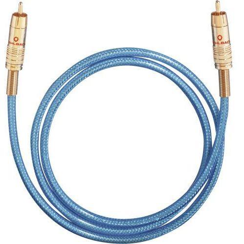 Kabel cyfrowy RCA, Oehlbach NF113, wtyk RCA / wtyk RCA, 75 Ohm, niebieski, 2 m (4003635107027)