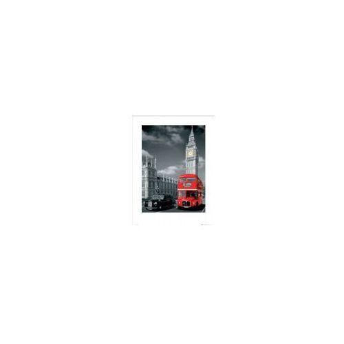 Londyn big ben czerwony autobus i taxi - reprodukcja marki Gb