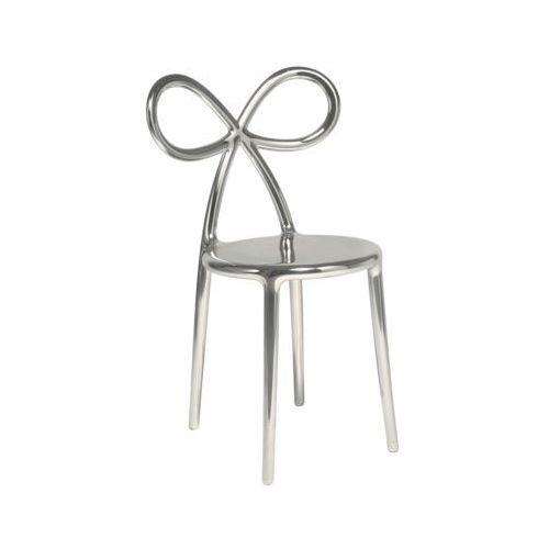 QeeBoo Krzesło Ribbon metalowe srebrne 80002SI-S