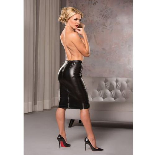 Faux leather knee length skirt marki Allure