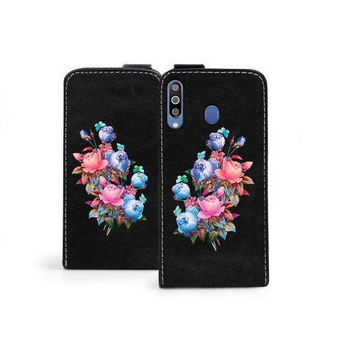 Samsung galaxy m30 - etui na telefon flip fantastic - bukiet róż marki Etuo flip fantastic