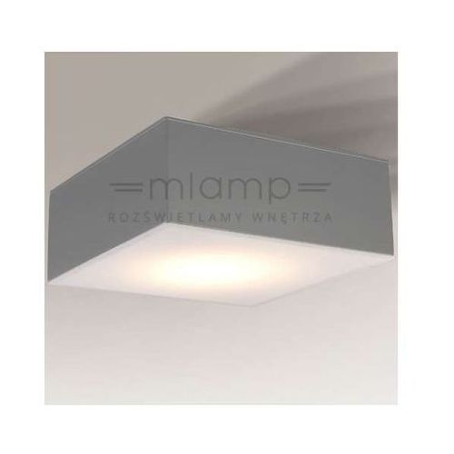Plafon LAMPA sufitowa ZAMA 1184/GX53/SZ Shilo metalowa OPRAWA kwadratowa szara