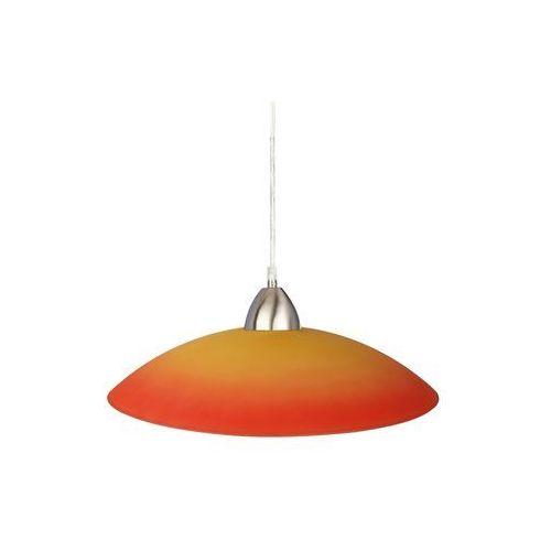 Lampa wisząca plate chrom/ pomarańczowy marki Prezent