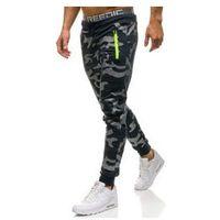 Spodnie męskie dresowe joggery moro-granatowe Denley ML223
