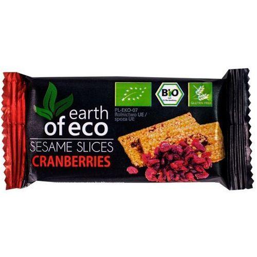 Sezamki z żurawiną 18g bez glutenu -  marki Earth of eco