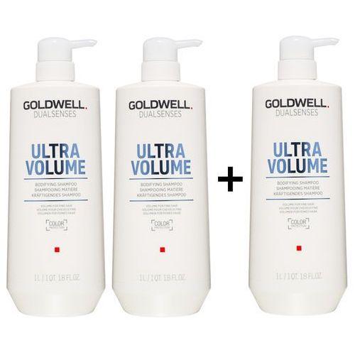 Goldwell dualsenses ultra volume   zestaw: szampon nadający objętość 3x1000ml