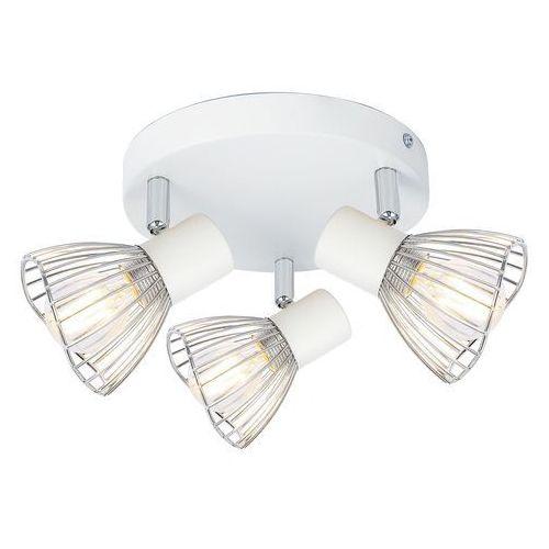 Candellux Fly 98-61980 plafon lampa sufitowa 3x40W E14 biały / chrom, kolor Biały