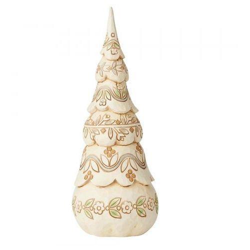 """Jim shore Biała choinka """"świąteczny las"""" festive forest (white woodland tree figurine) 6004174 figurka ozdoba świąteczna"""
