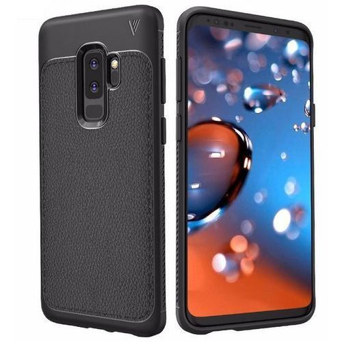 Lenuo Etui leather case tpu samsung galaxy s9+ plus czarne (6923862917726)
