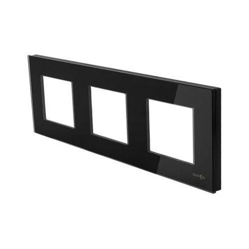 Touchme ramka potrójna szklana czarna tm717b marki Els elektrotechnika sp. z o.o. sp. k.