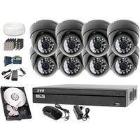 Zestaw do monitoringu: rejestrator -xvr0801, 8x kamera lv-al25hd, 1tb, akcesoria marki Bcs