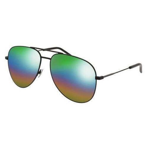 Okulary Słoneczne Saint Laurent CLASSIC 11 RAINBOW 007, kolor żółty
