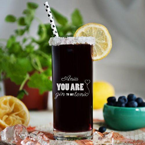 Gin to my tonic - grawerowana szklanka do drinków - szklanka marki Mygiftdna