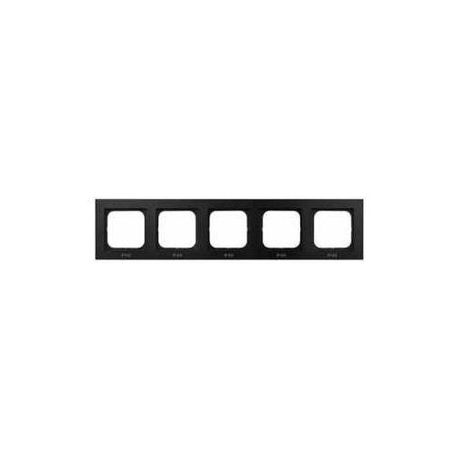 Ramka pięciokrotna do zestawów ip-44 czarny metalik - rh-5r/33 sonata marki Ospel