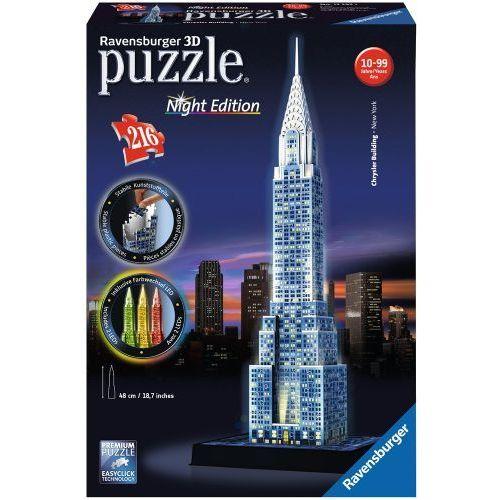 PUZZLE 3D 216 EL. CHRYSLER BUILDING NIGHT EDITION REKLAMA, 4005556125951
