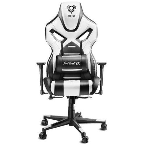 Fotel diablo x-fighter czarno-biały + darmowy transport! marki Diablo chairs